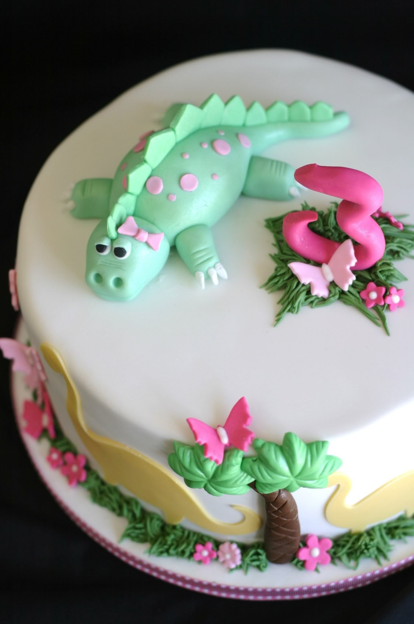 3rd Birthday Cake Ideas She Is Obsessed With Dinosaurs