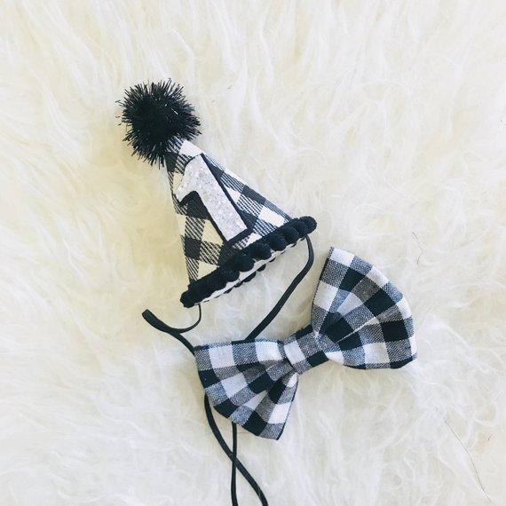1st Birthday Boy Hat And Bow Tie Set