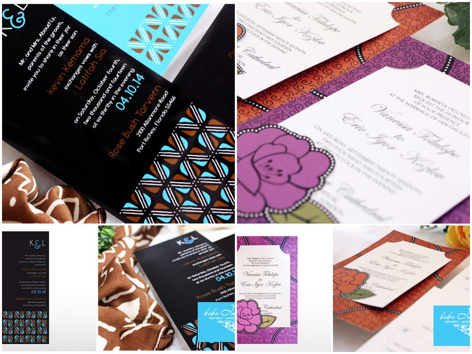 African Themed Wedding Invitations Bibi Giveaway Contest