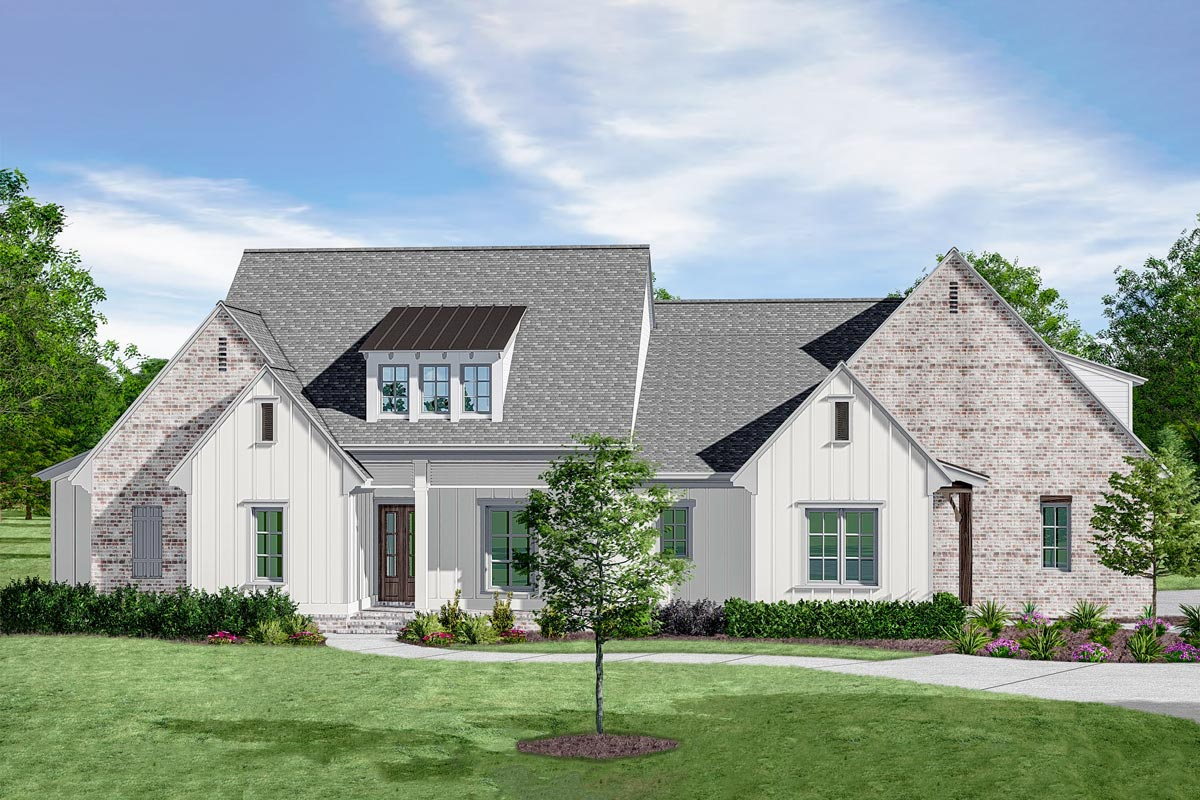 Plan 510073wdy 5 Bed Acadian House Plan With Outdoor Kitchen With Images Acadian House Plans