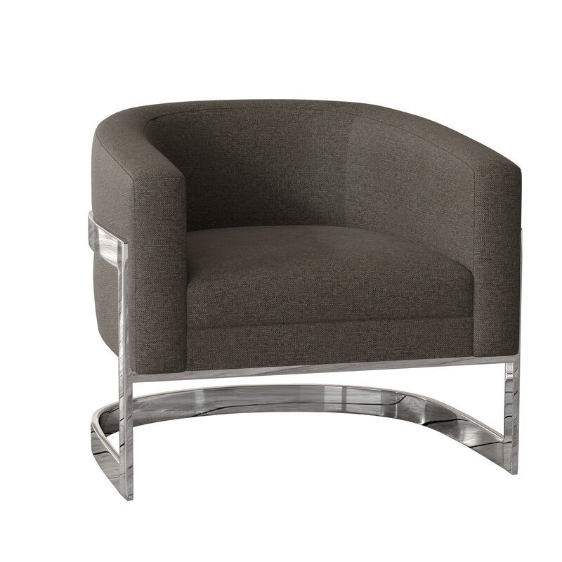 Callie Barrel Chair Barrel Chair Chair Blue Upholstered Chair