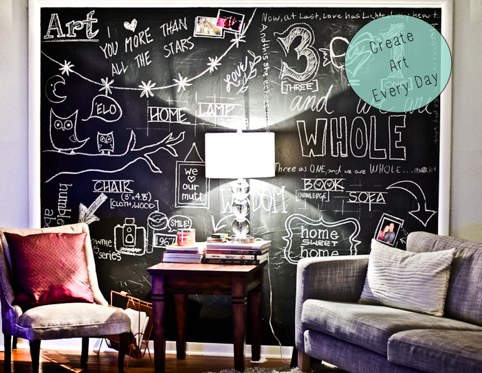 Lovely Room · Living Room Chalkboard