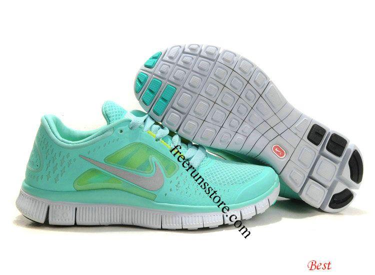 Tiffany Blue Nike Free Run 3 5.0 Pure Platinum Reflect