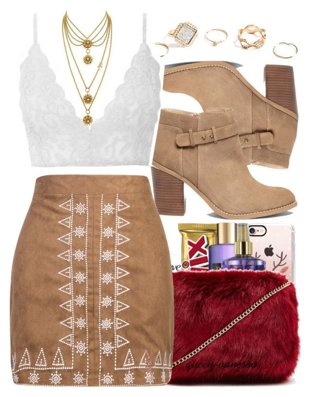 """""""boho queen """" by trinsowavy ❤ liked on Polyvore featuring Sole Society, GUESS, WithChic and Juicy Couture"""