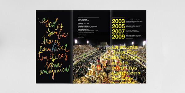 Poster & Flyer - Beija Flor 2009 by Osh Grassi, via Behance