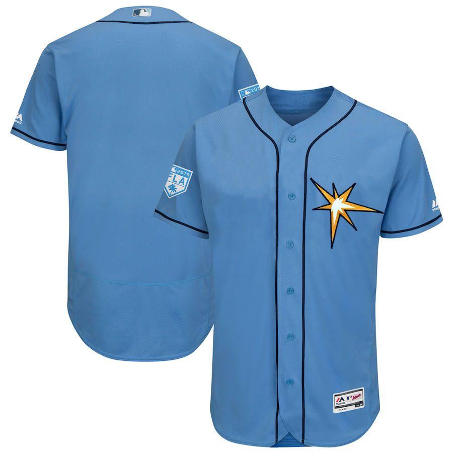 9f659e62 Men's Tampa Bay Rays Majestic Light Blue 2019 Spring Training Flex Base  Team Jersey