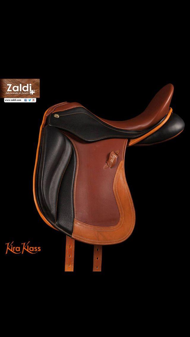 Zaldi kira klass dressage saddle. Look at all those colors ...