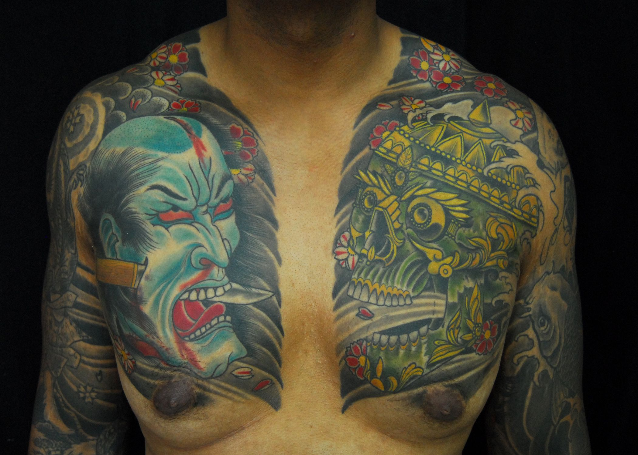 Heres a japanese style tattoo done by mark nes here at one