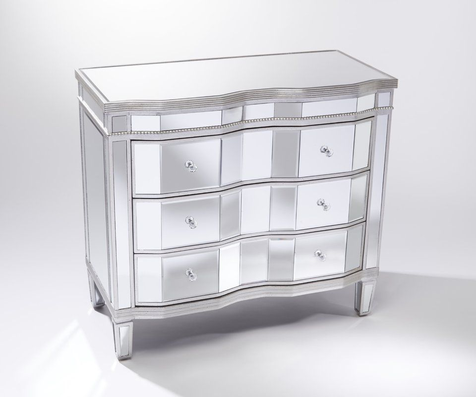 Beachmont Mirrored 3 Drawer Accent Chest Accent Chest Drawers Bedroom Inspirations