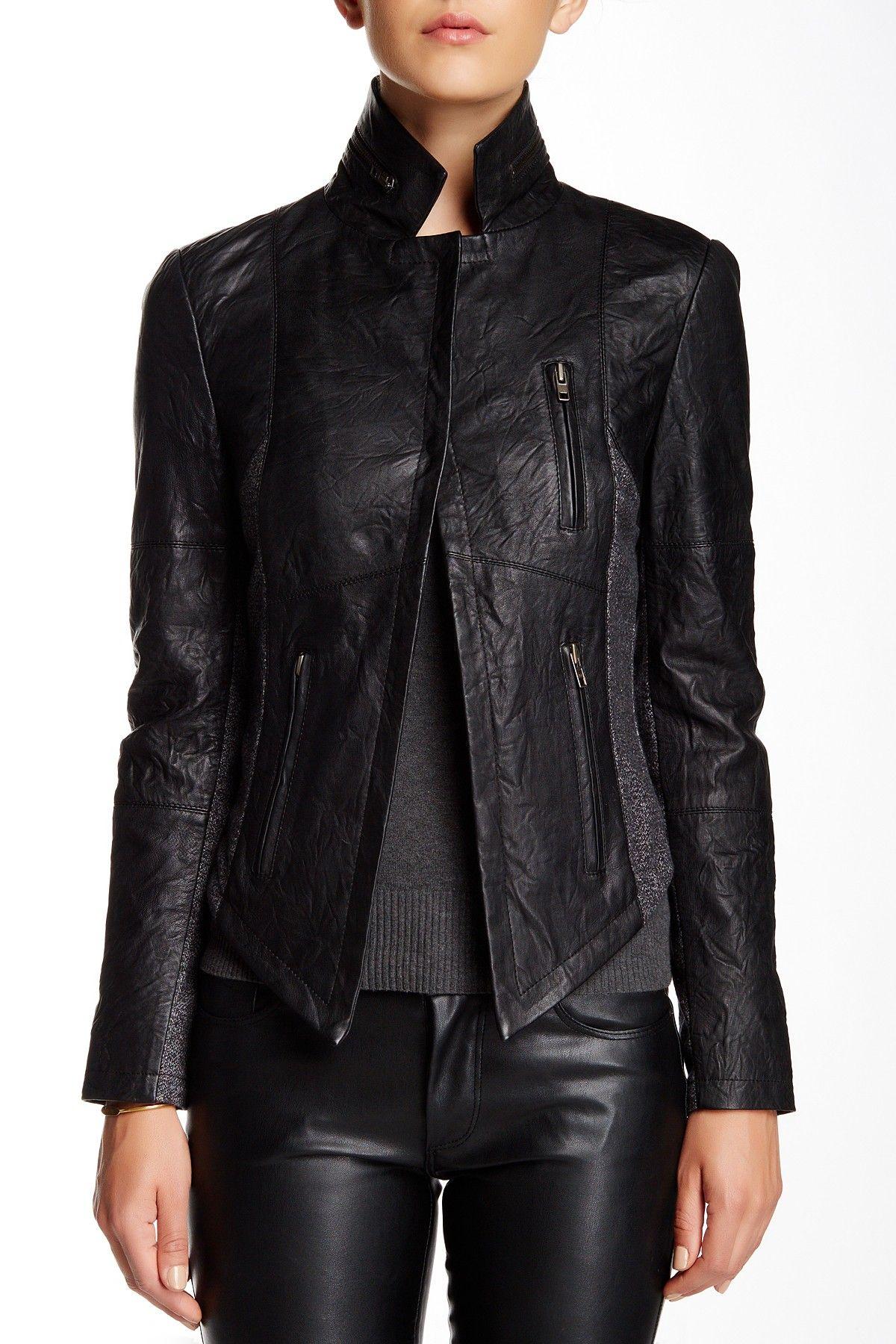 Walter Baker Nori Leather Jacket Jackets, Leather