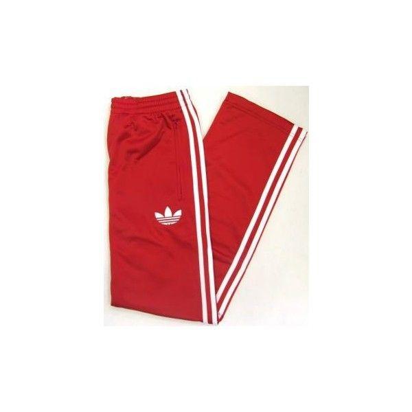 Adidas Firebird Track Pants (Bottoms) in RedWhite ($57