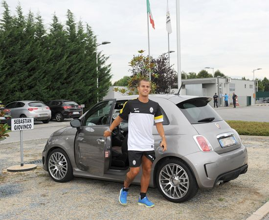 sebagiovinco and his  Abarth at  juventusfc training session ... f0f8991aa836
