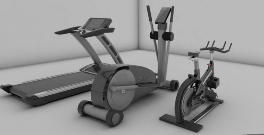 Gym Equipment Collection 3d Model In Skp Sketch Up File Gym
