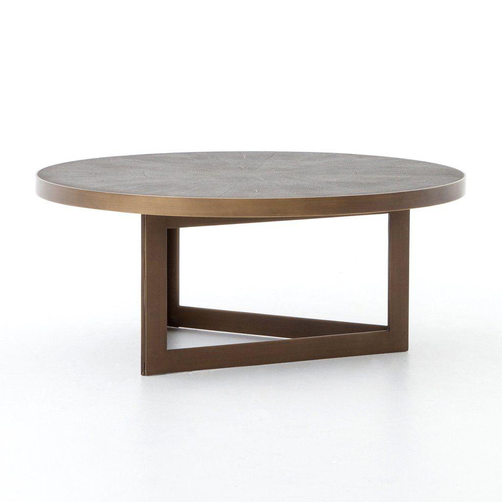 Shagreen Round Coffee Table Brass [ 1024 x 1024 Pixel ]