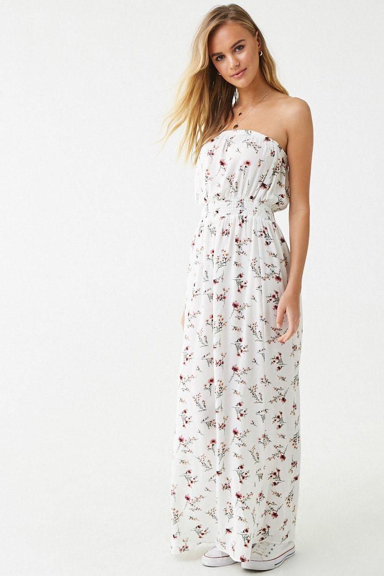 Strapless Floral Print Maxi Dress Forever 21 Printed Maxi Dress Floral Print Maxi Dress Floral Print Maxi [ 1125 x 750 Pixel ]