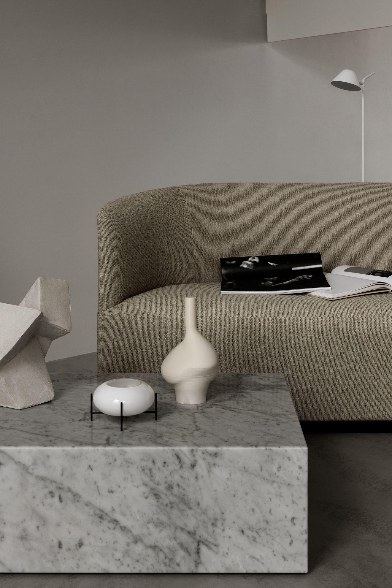 Menu A Stylish Minimalist Living Room Setting In Beige Concrete