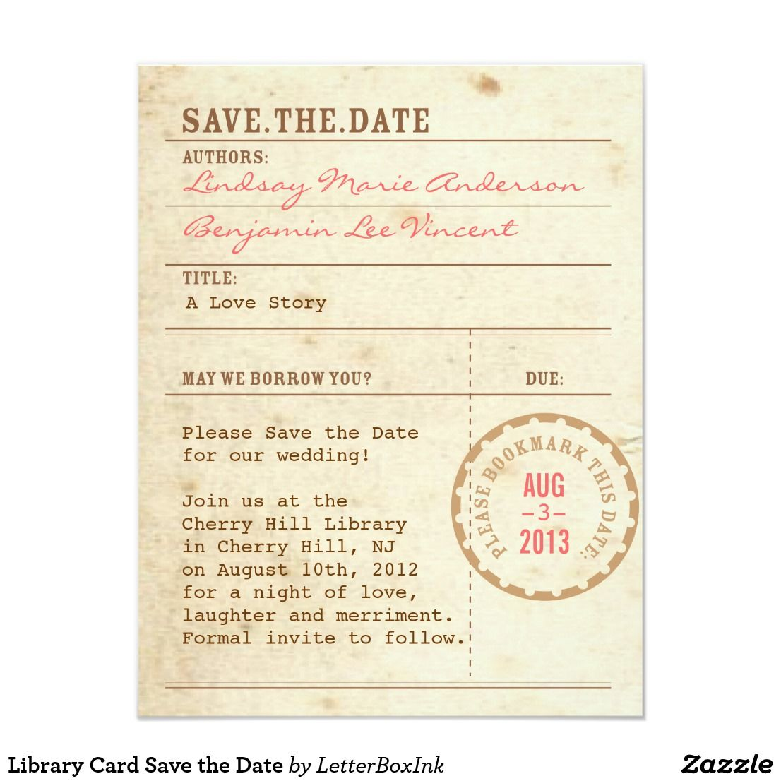Library Card Save The Date Zazzle Com Library Card Wedding Invitations Save The Date Invitations Save The Date