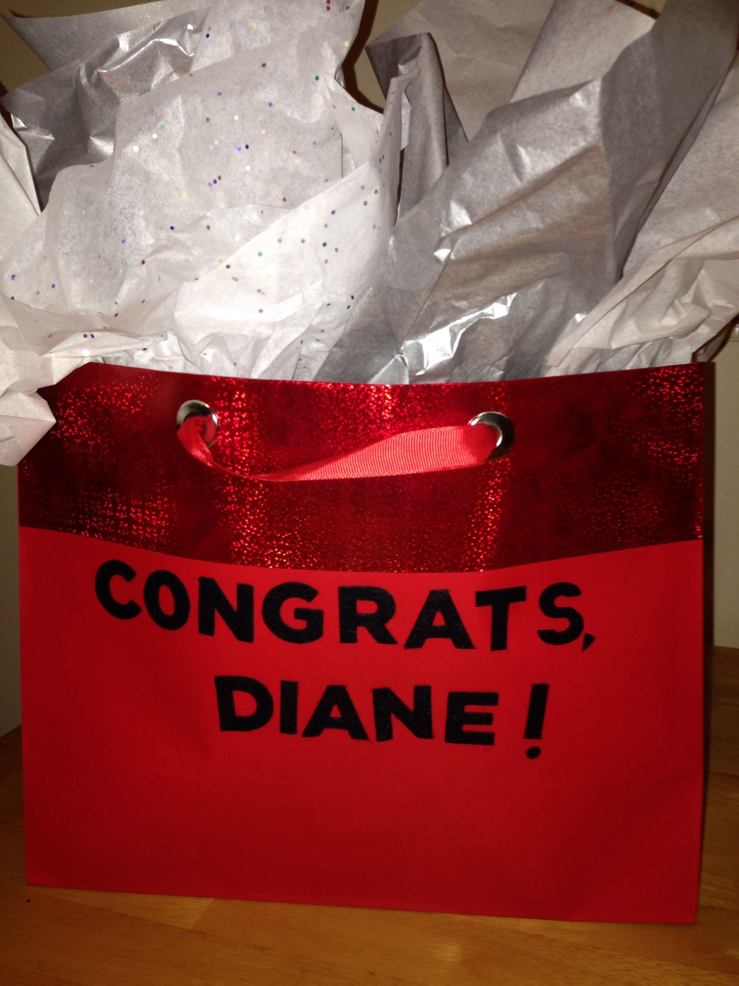 Personalized gift bag! #madebybethbaldwin