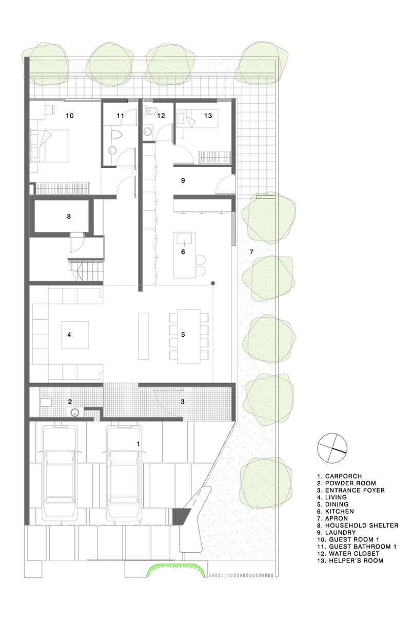 Gallery Of Maximum Garden House Formwerkz Architects 16 Home Design Floor Plans House Floor Plans Floor Plans