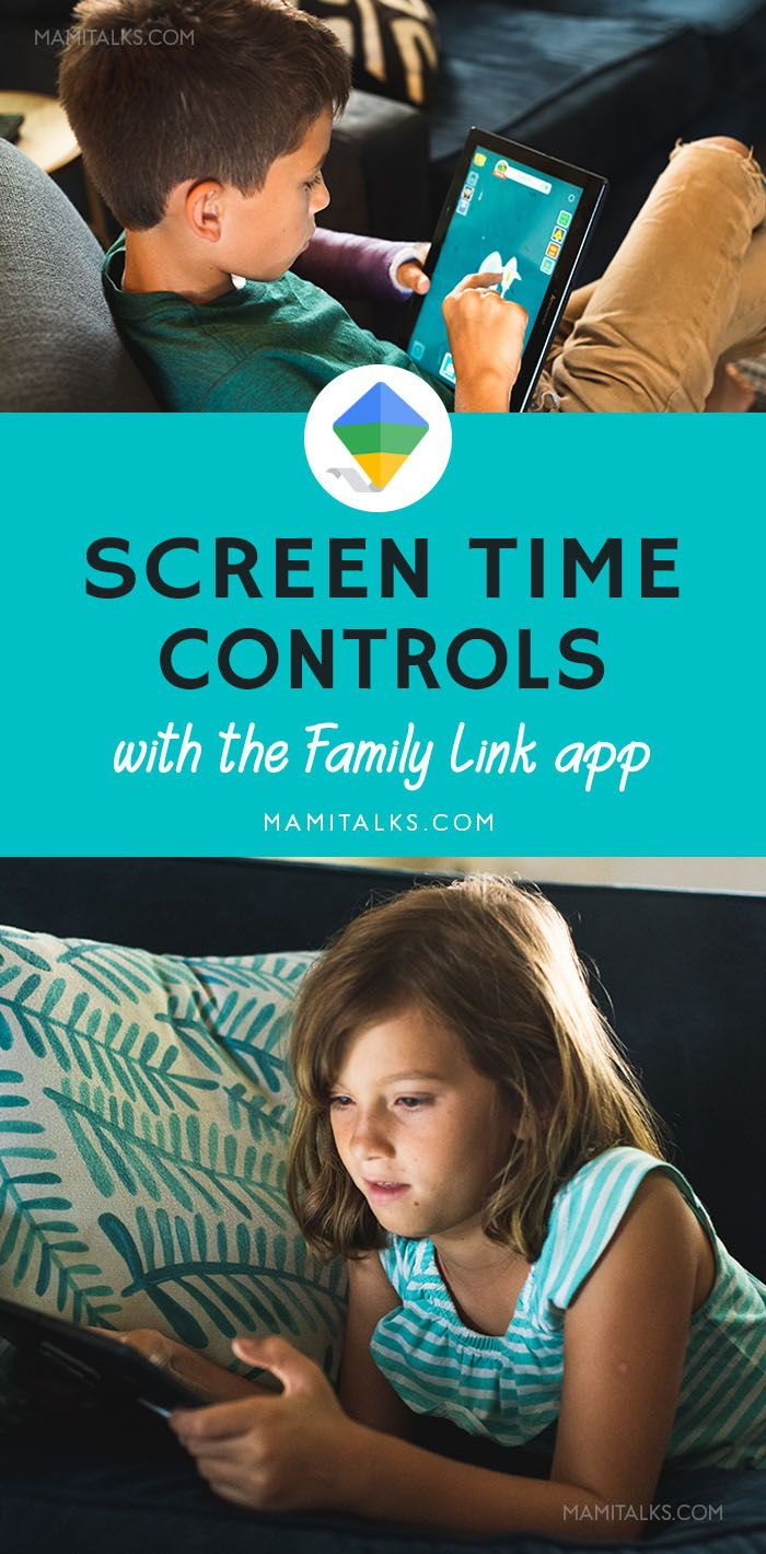 Screen Time Controls with Family Link App from Google