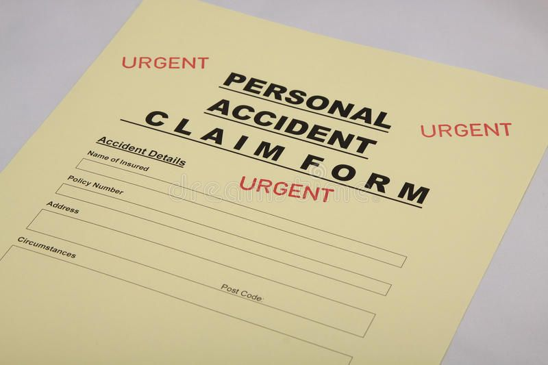 Personal Accident Insurance Claim Form Insurance Claim Form For