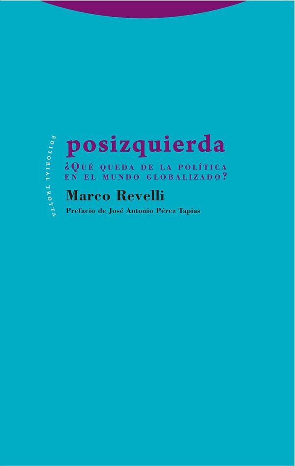 Posizquierda, ¿qué queda de la política en un mundo globalizado? / Marco Revelli.      Trotta, 2015