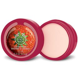 This buttery balm melts onto the lips for instant hydration. It contains sweet strawberry seed oil.