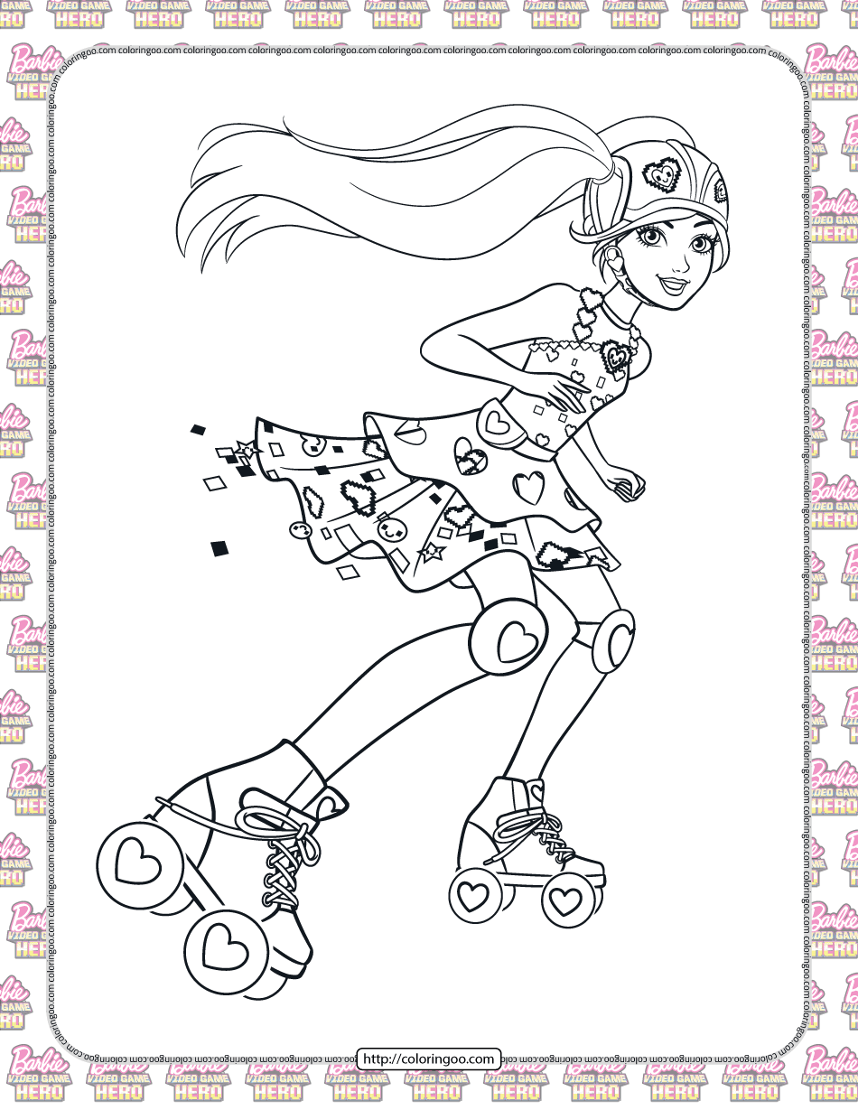 Barbie Video Game Hero Coloring Pages For Girls High Quality Free Printable Pdf Coloring Drawin In 2021 Barbie Coloring Pages Coloring Pages For Girls Coloring Pages