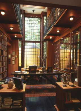 Clic 2 Story Study With Library Loft Spectacular Window Wall I D Lose Mr S For Days W A Libarary Like This He Go Back To Reading Actual Books