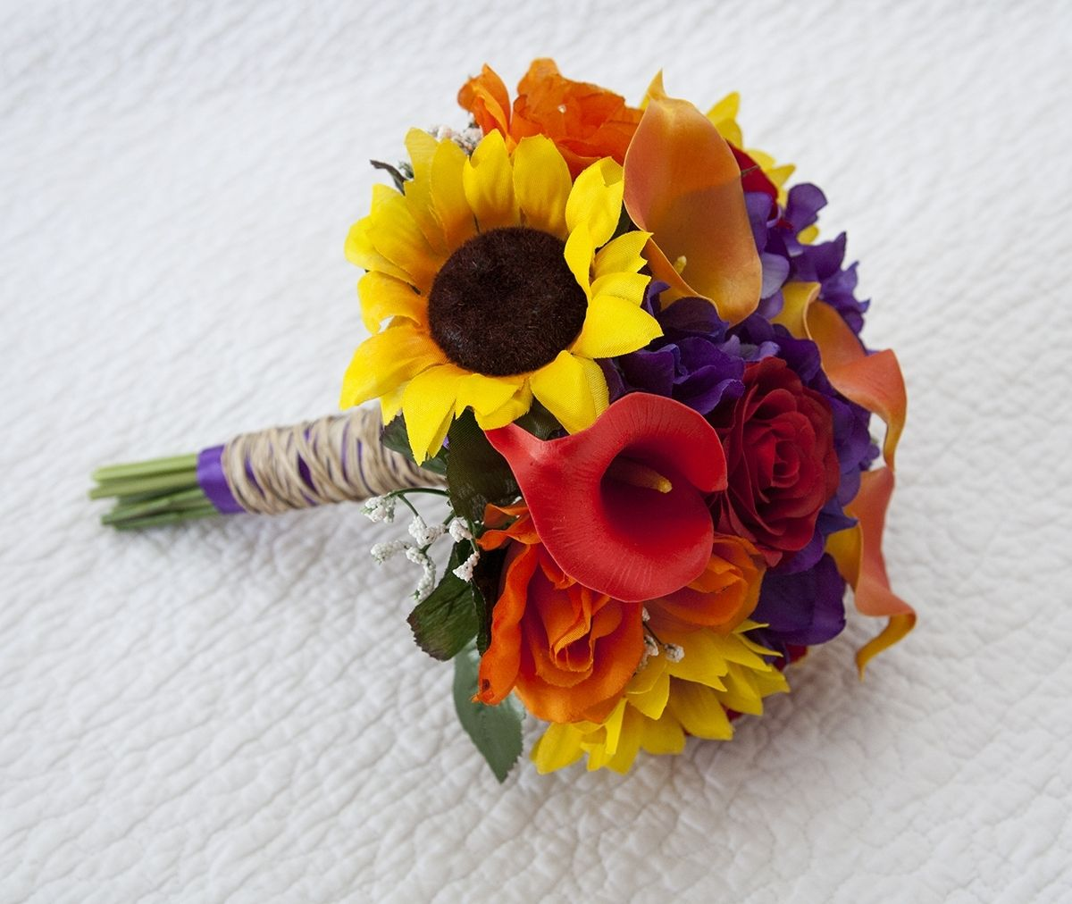 Sunflowers real touch roses and calla lilies autumn bouquet perfect sunflowers real touch roses and calla lilies autumn bouquet perfect for fall weddings izmirmasajfo