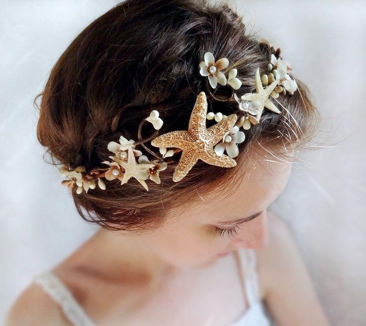 Seashell hair accessories seashell starfish head piece for Seashells for hair