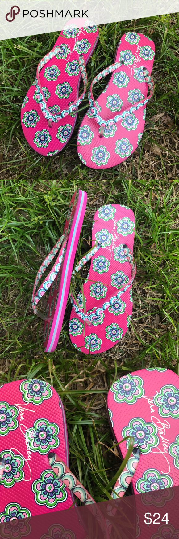374d39db991f Vera Bradley Pink Swirls Flowers 7 8 Flip Flips This is a pair of Vera