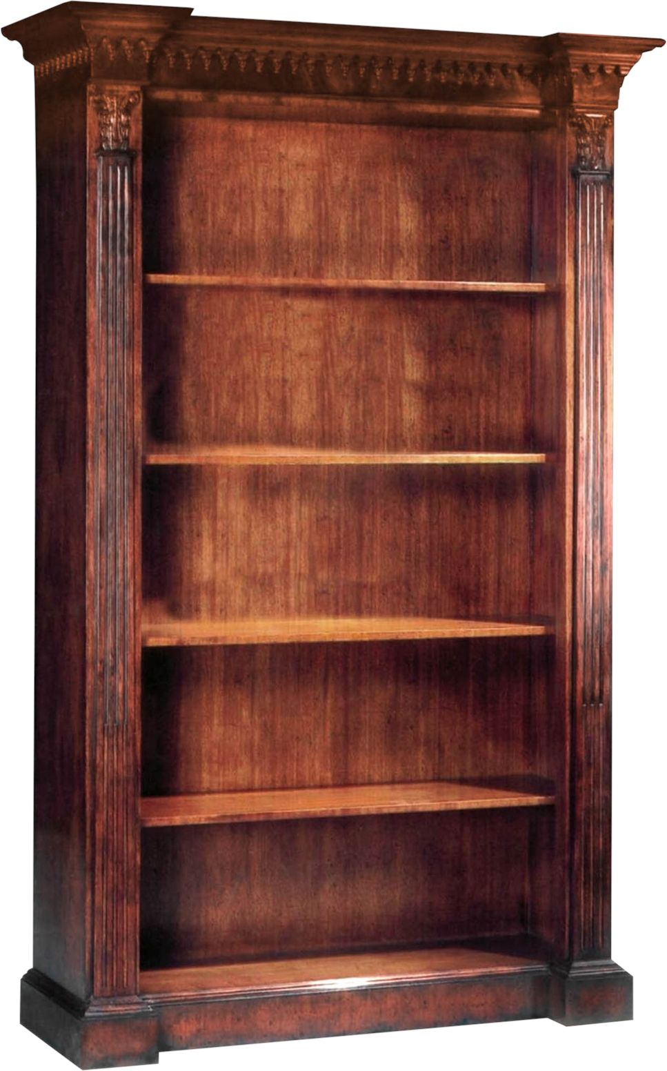 Scarborough House Bookcase Traditional Style Carved 5 Shelves