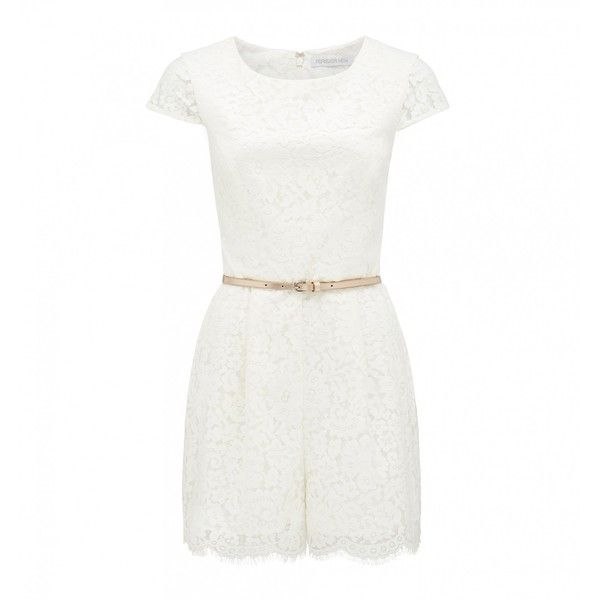 1127d3ab41d Forever New Elle lace playsuit (71 BRL) ❤ liked on Polyvore featuring  jumpsuits