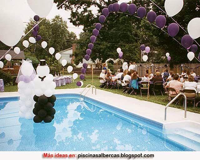 resultado de imagen para decoracion para piscinas para matrimonio - Decoracion De Piscinas