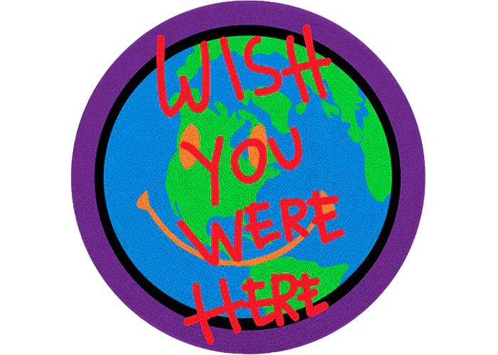 Travis Scott Astroworld Wish You Were Here Rug Multi In 2021 Wish You Are Here Travis Scott Astroworld Blue Wallpaper Iphone