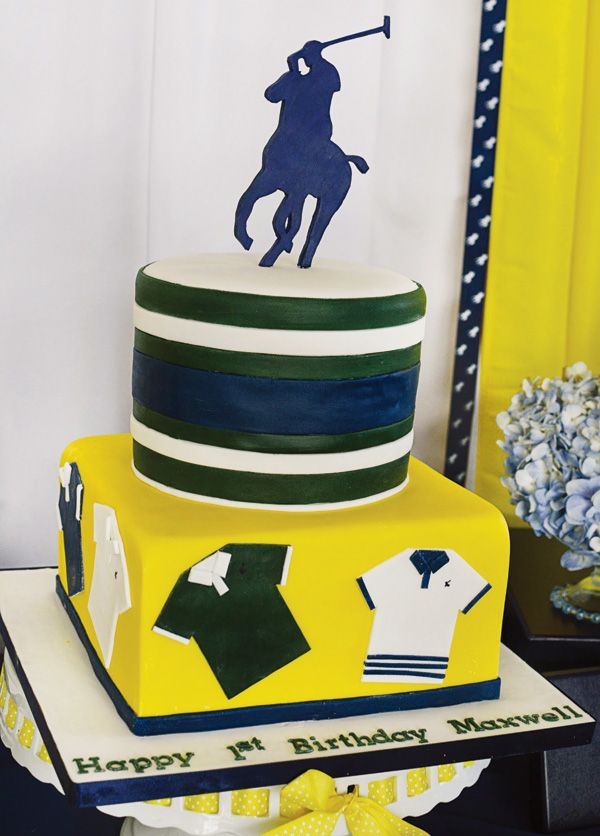 Ralph Lauren Inspired Polo Club First Birthday Party