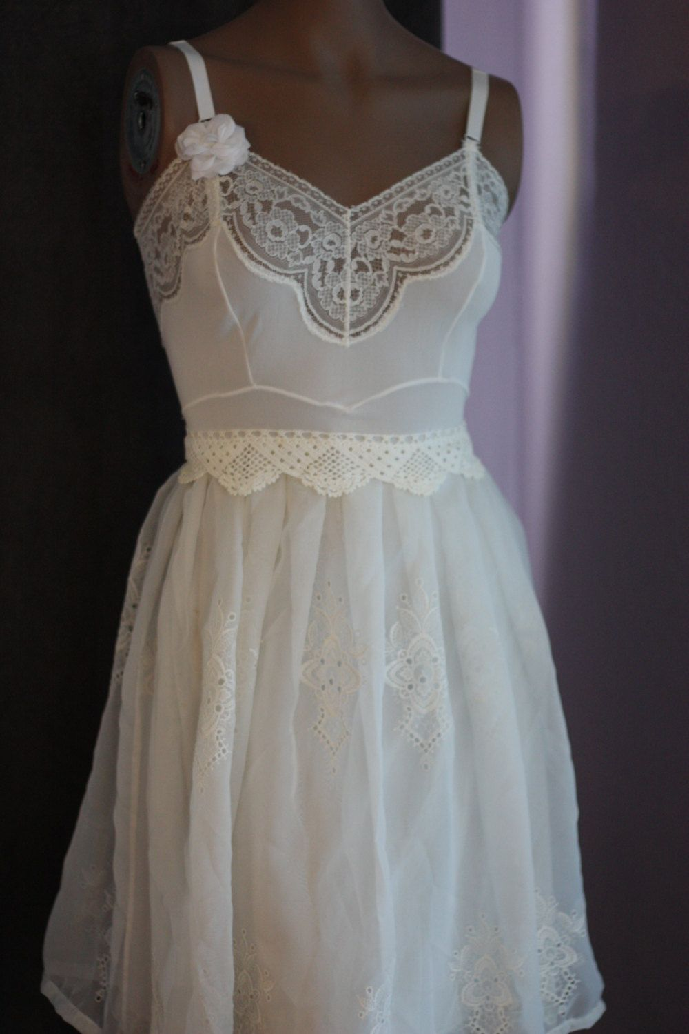 Design your own wedding dress cheap  Design your own Eco Friendly Knee length Wedding Dress one of a kind