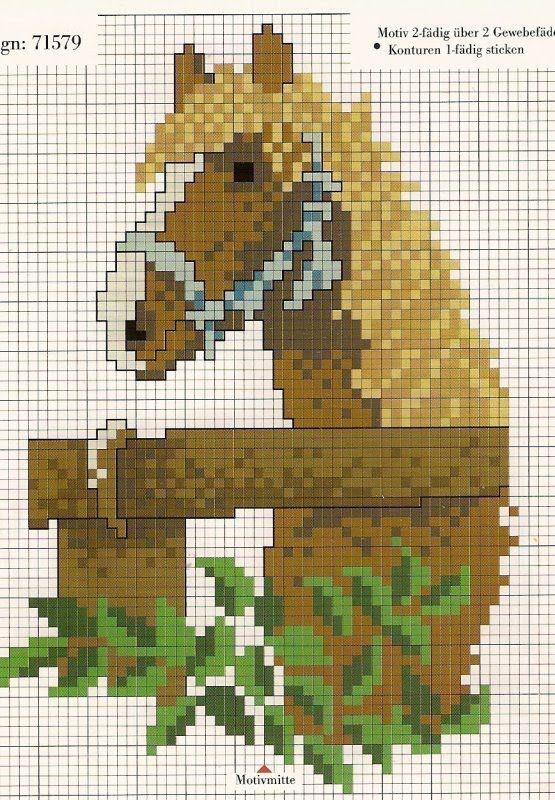 173 Ponto Cruz Cavalos Ponto Cruz Pontos Cruz Pinterest