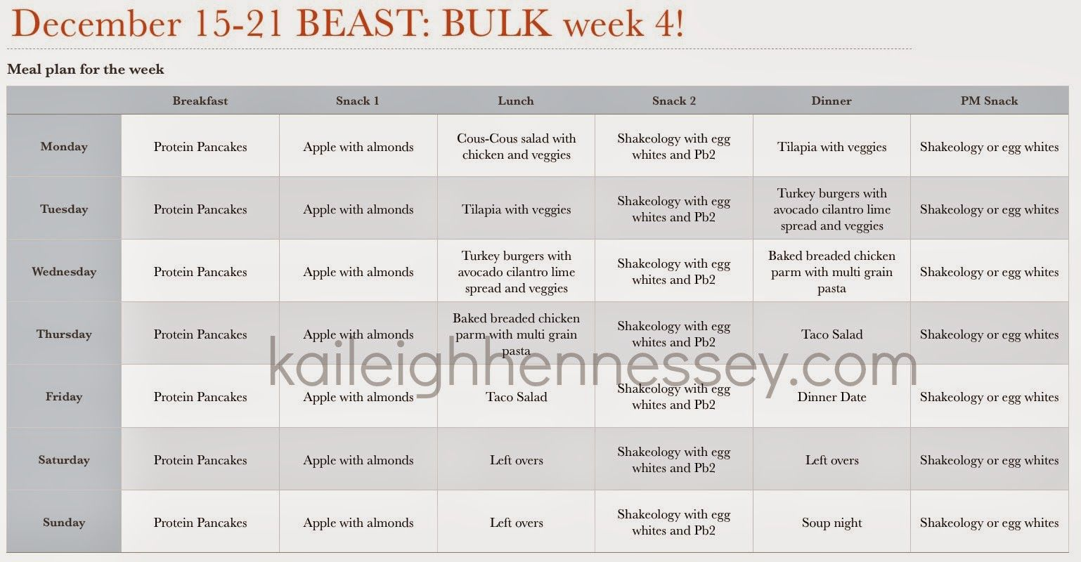 Week 7 Meal Plan At Kaileighhennessey Fitness Pinterest