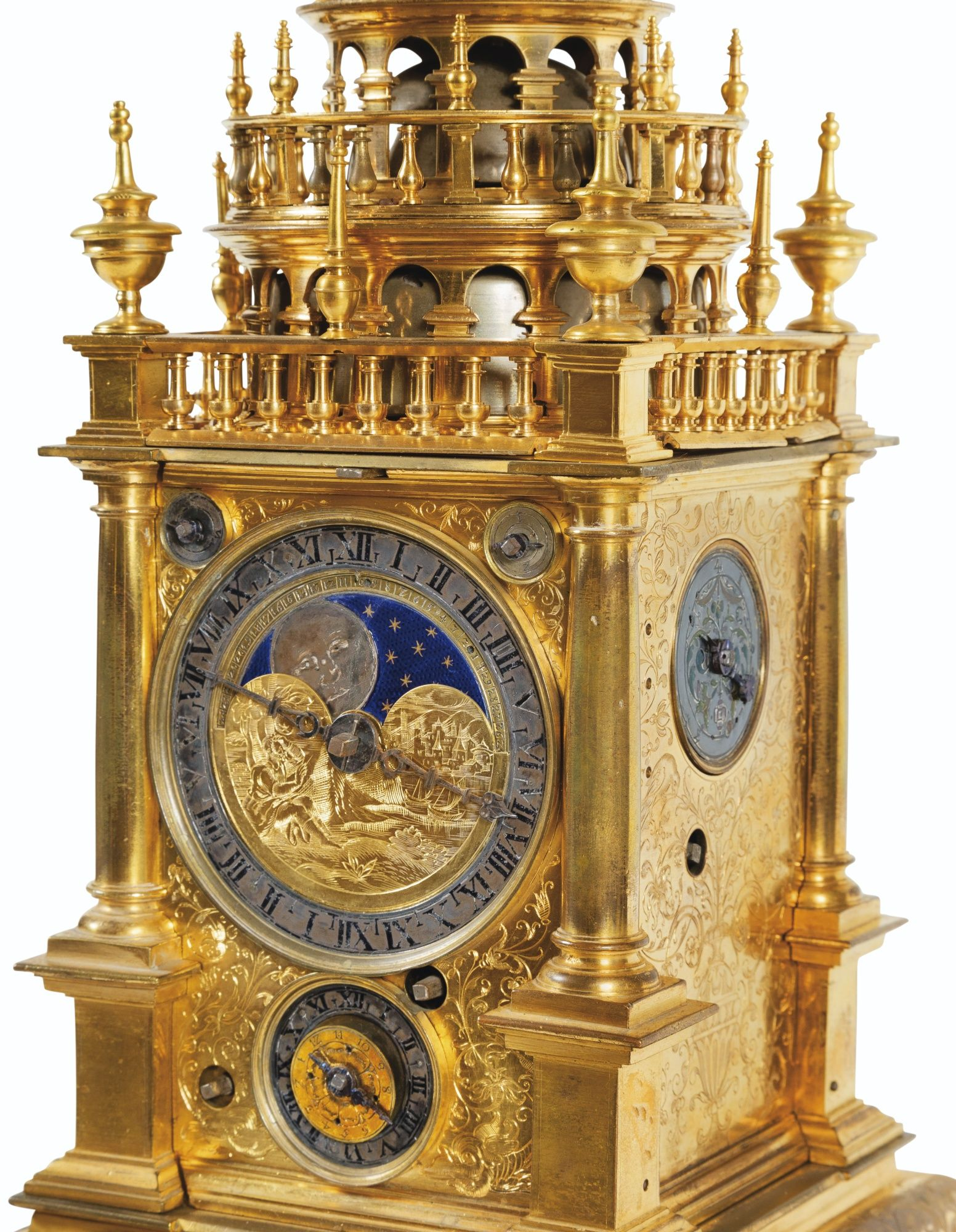 sold eur 81 000 large brass table clock or turmchenuhr with