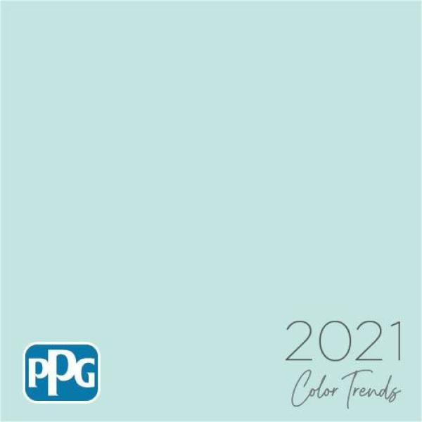 The improved PPG Diamond interior 100% acrylic paint and primer provides exceptional durability and hide. It also provides outstanding stain resistance that protects and beautifies any room in your home. All backed by a Lifetime Guarantee. Color: Misty Aqua.