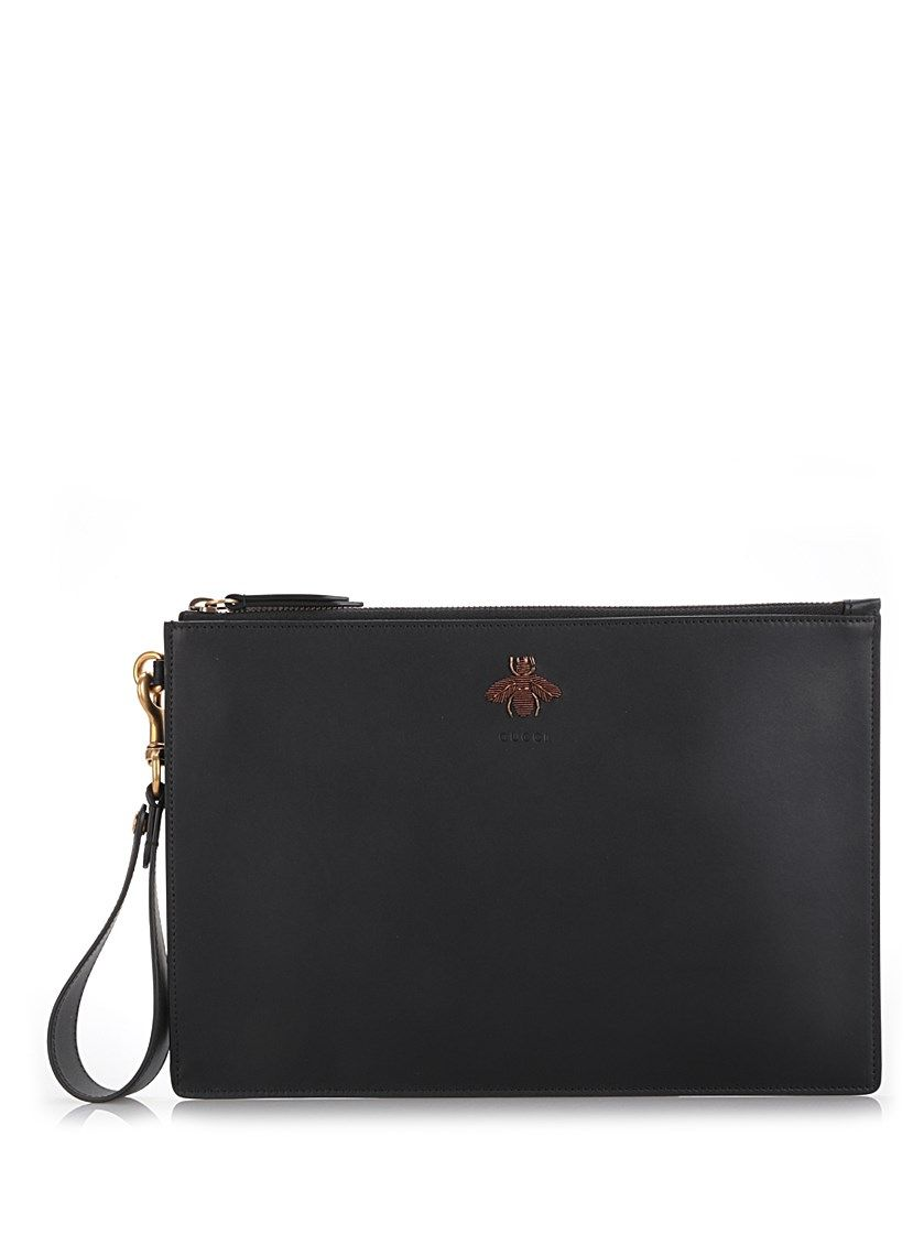 70da49ff1 GUCCI Embroidered Bee Pouch.  gucci  bags  shoulder bags  leather  pouch   accessories