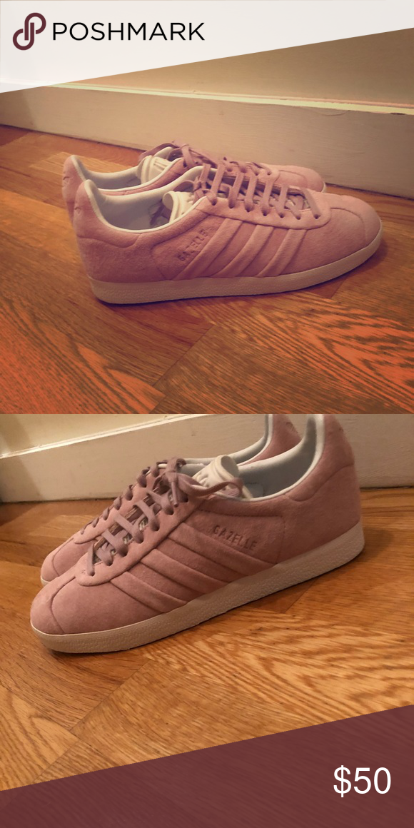newest 26e9b 448d3 Adidas Gazelle stitch turn suede womens Never worn! Just didnt fit me and  I forgot to return them. Beautiful color! Runs big. adidas Shoes Sneakers