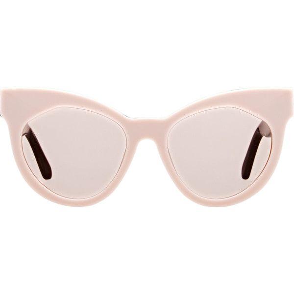 013ce9ab88a0 Karen Walker Starburst Sunglasses ($300) found on Polyvore featuring  accessories, eyewear, sunglasses, pink, lens glasses, pink glasses, cat eye  glasses, ...