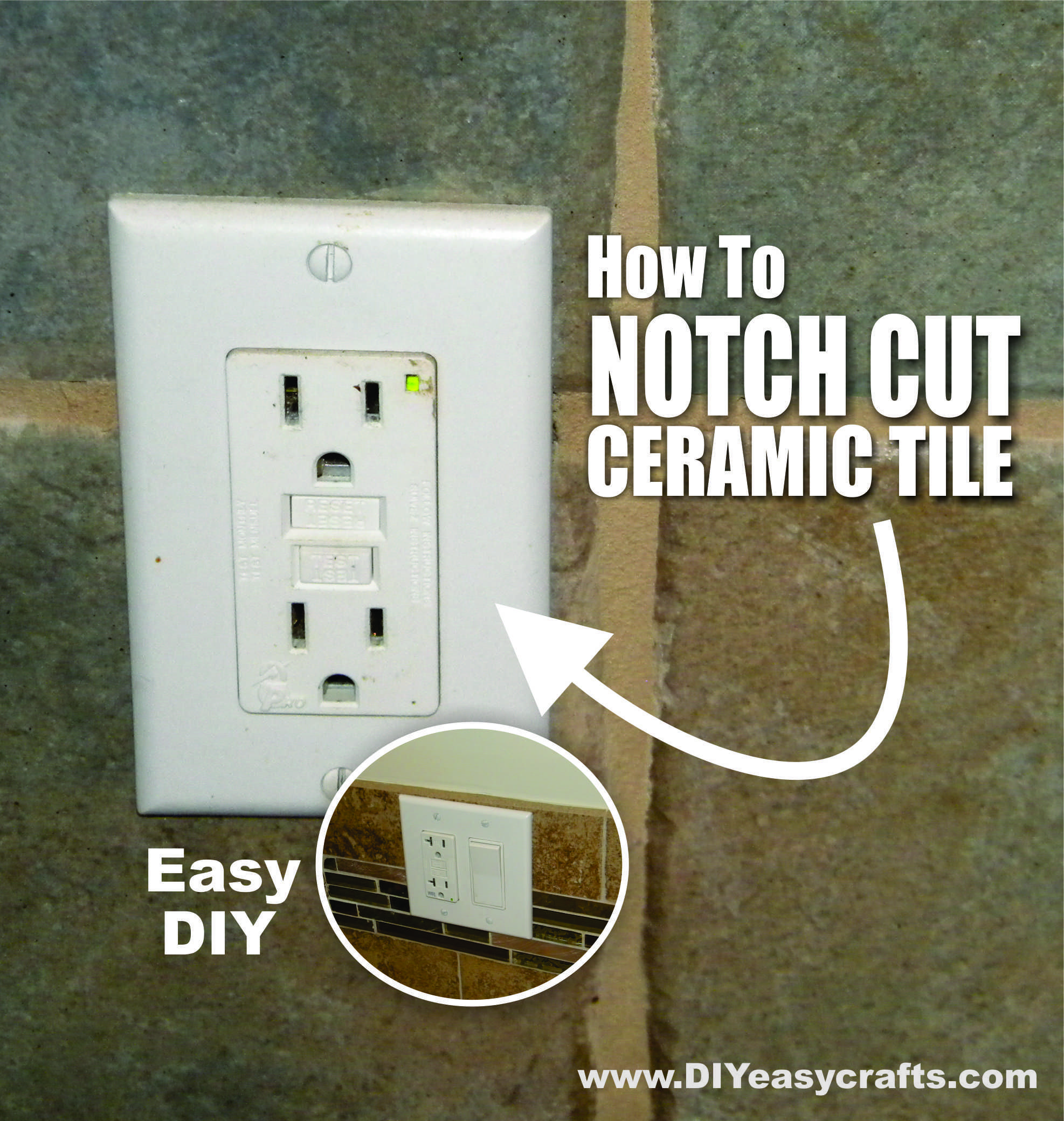 Diy how to easily notch cut and cut square holes in ceramic tiles diy how to easily notch cut ceramic tiles we show a variety of ways to easily make notch cuts and square holes in ceramic tiles perfect for cutting holes dailygadgetfo Images