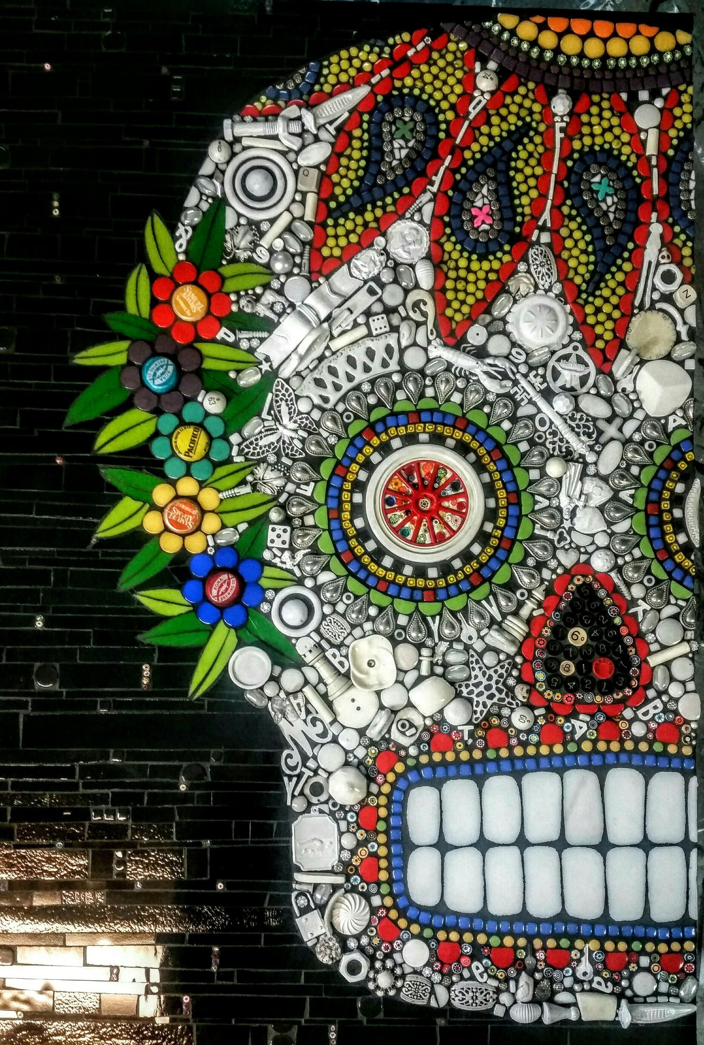 Sugar Skull - Delphi Artist Mosaic