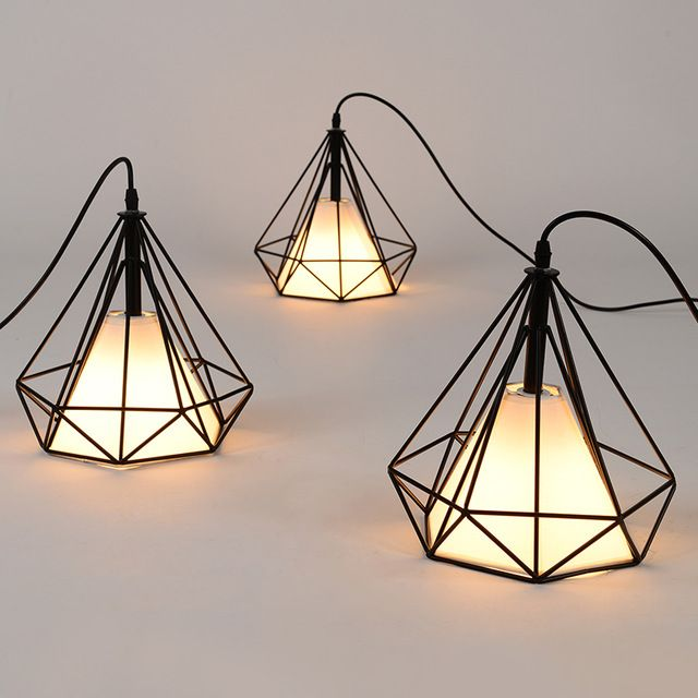 Free shipping american vintage cage pendant lights eu warehouse free shipping american vintage cage pendant lights eu warehouse black diamond pendant lamp diamond creative restaurant aloadofball Choice Image