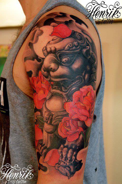 Henrik Grysbjerg At Henrik Tattoo Foo Dog Tattoo Tattoo Photography Asian Tattoos