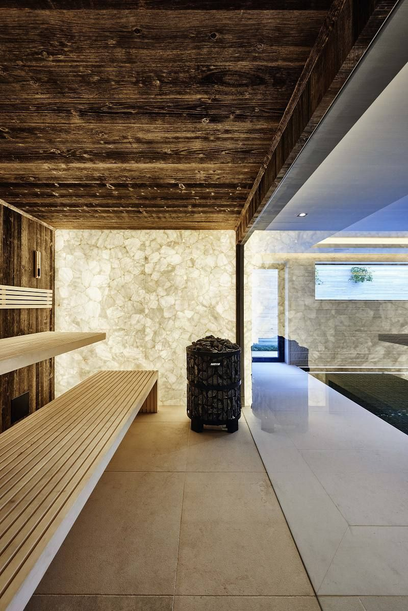 eric kuster lakeside villa dry sauna Home Spa wellness